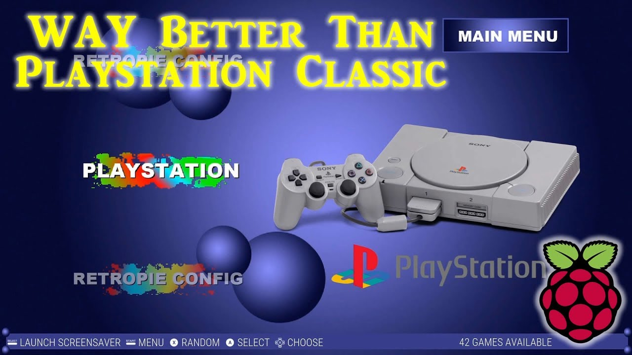 New Raspberry Pi Playstation Classic - 42 Games - Arcade Punks