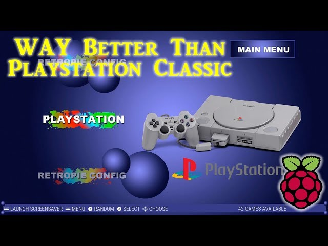 New Raspberry Pi Playstation Classic - 42 Games