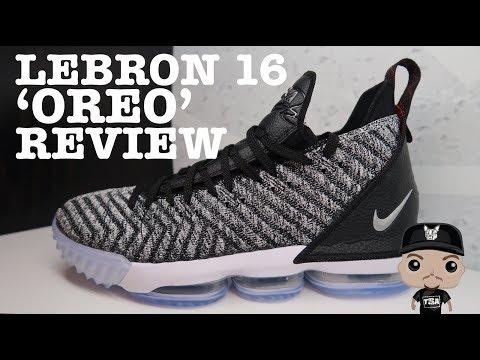 buy popular 0cc5c 3e748 Nike Lebron 16 Oreo Sneaker Detailed HONEST Review ...