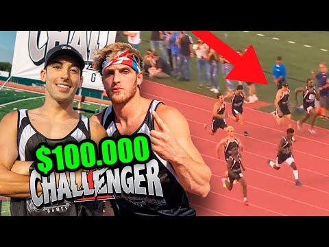 MI CARRERA CONTRA LOGAN PAUL POR $100.000 (Challenger Games)
