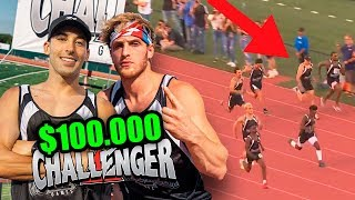 I RACED VS. LOGAN PAUL FOR $100,000 (Challenger Games)