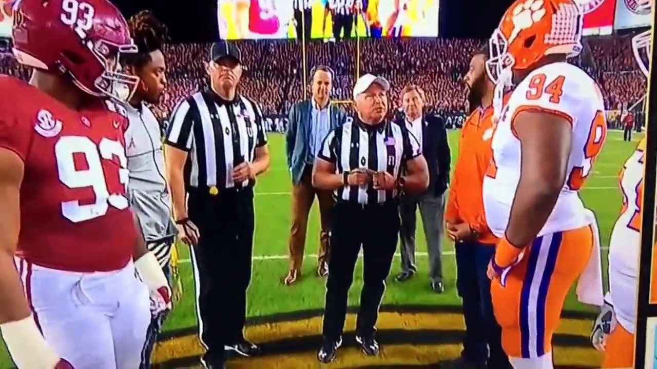 National Championship Coin Flip Youtube