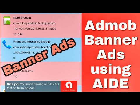 How to integrate Admob Ads in Sketchware project using AIDE?