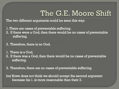 Rowe Problem of Evil argument for Atheism