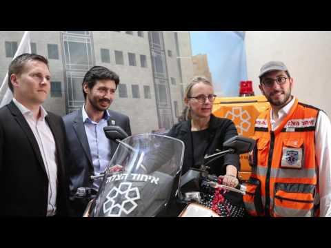 Visite De L'Ambassade De France Au Siège De United Hatzalah !