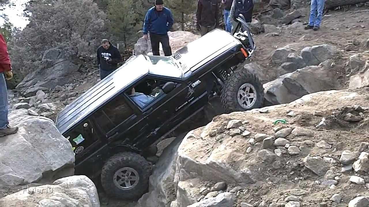 Jeep Cherokee 2011 >> Jeep Cherokee XJ climbing the unthinkable - Carnage Canyon (HD) - YouTube
