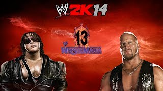 WWE 2K14- Bret Hart vs Stone Cold (Wrestlemania 13)- 30 Years of Wrestlemania Playthrough