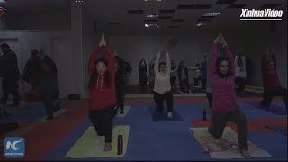 Syrians find safe stress reliever in Yoga