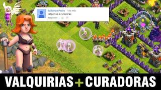 Desafio dos Inscritos: VALQUÍRIAS COM CURADORAS - Clash of Clans