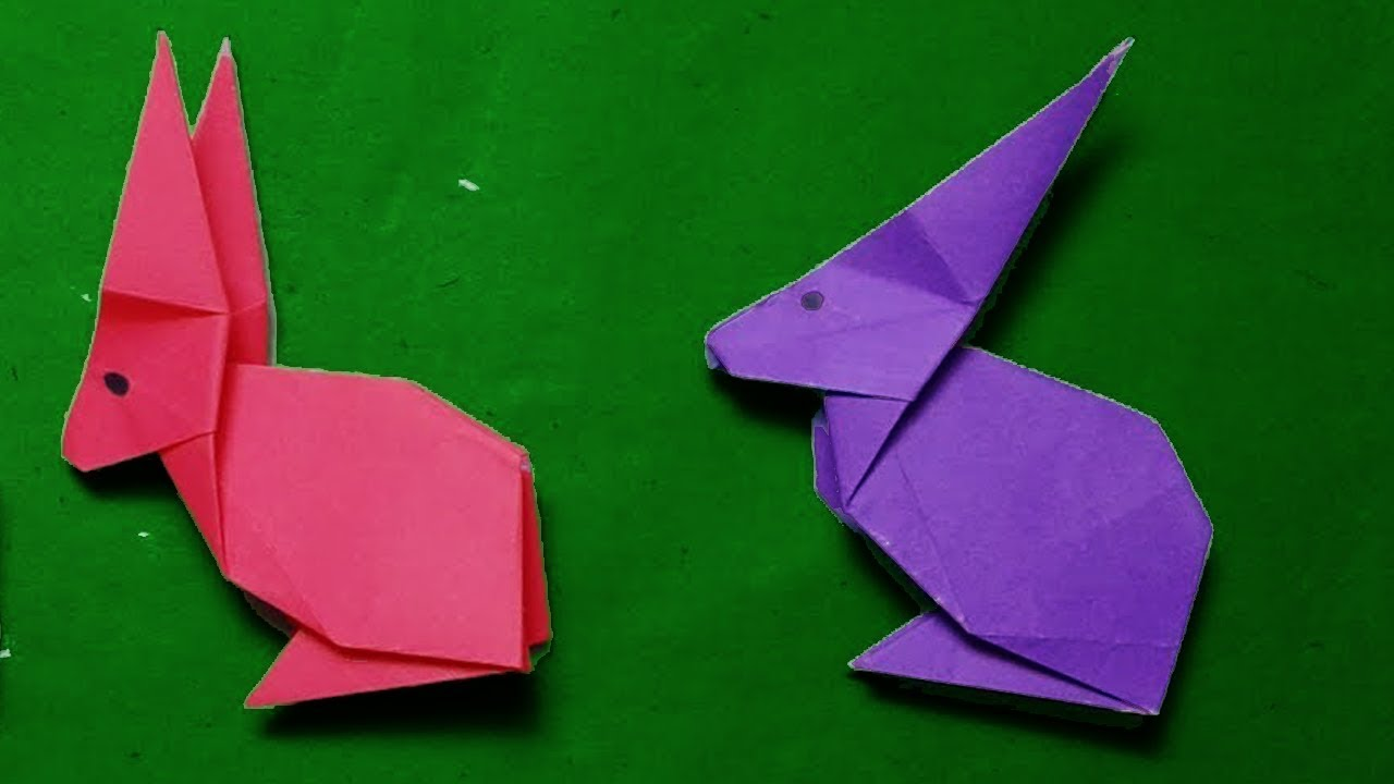 how to make a paper rabbit origami rabbit easy