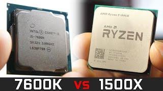 AMD Ryzen 1500X vs Intel Core i5 7600K