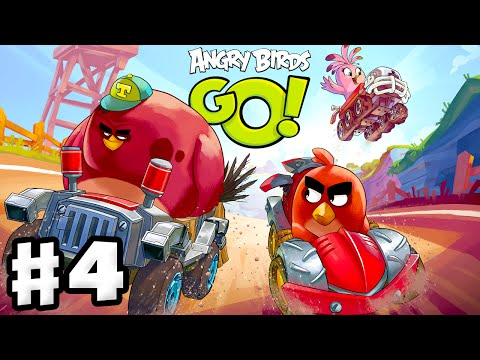 Angry Birds Go! 2.0! Gameplay Walkthrough Part 4 - King Pig and Blues Races! 3 Stars! (iOS, Android)