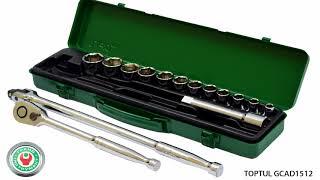 Обзор набора профессионального дюймового инструмента Toptul GCAD1512 на 15 предметов.