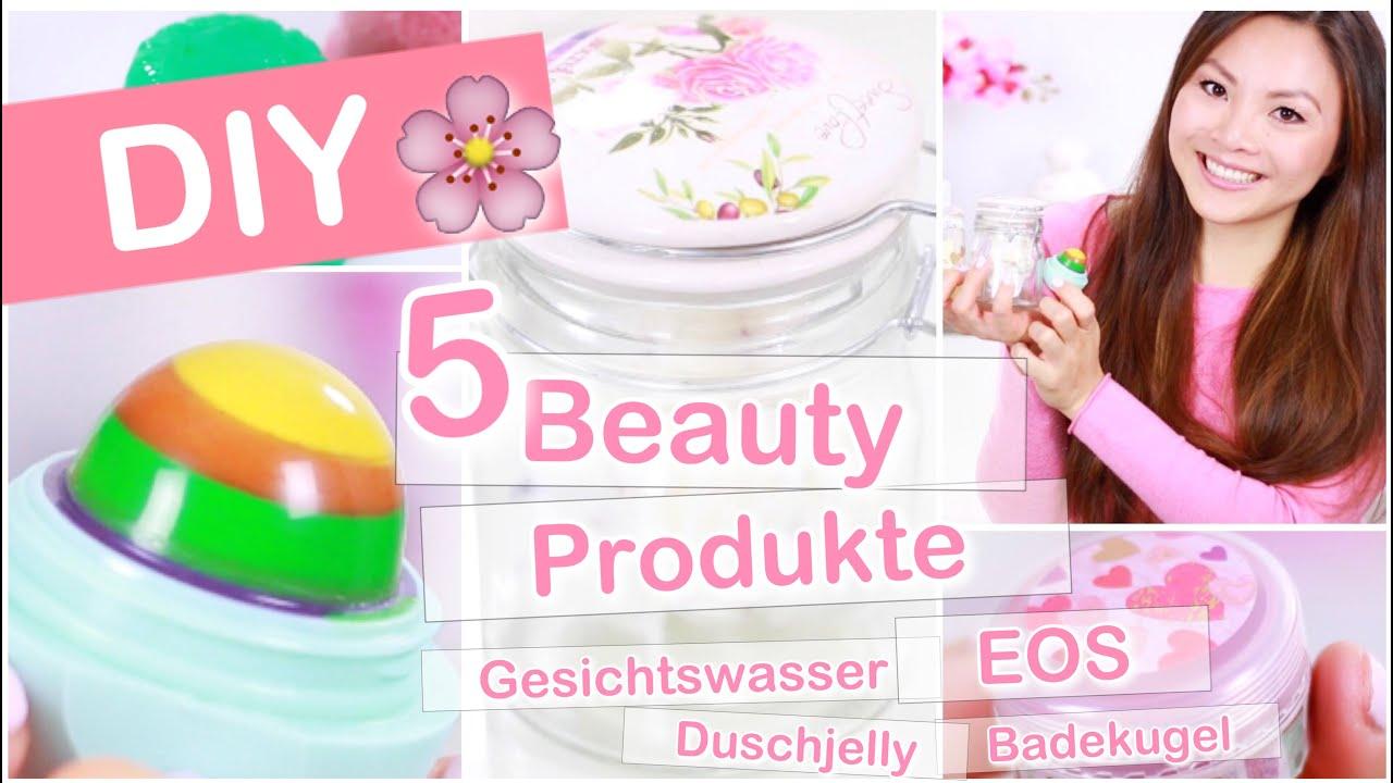 diy beauty produkte - eos, gesichtswasser, badekugel, duschjelly