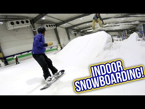 INDOOR SNOWBOARDING!