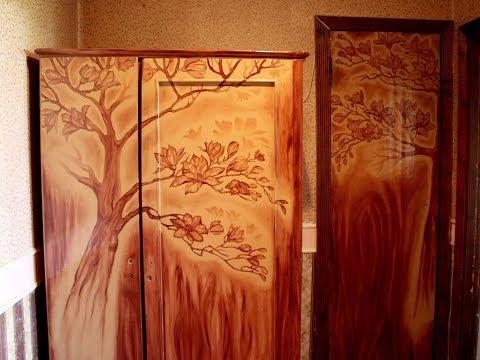 """Елена Беленко, художник. Мастер-класс. Роспись мебели """"Цветущий сад""""."""