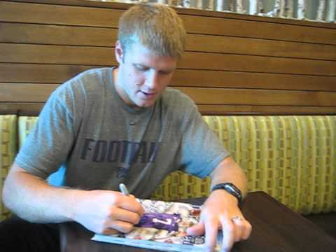Collin Klein signs autographs for The SI KING 9-26-13