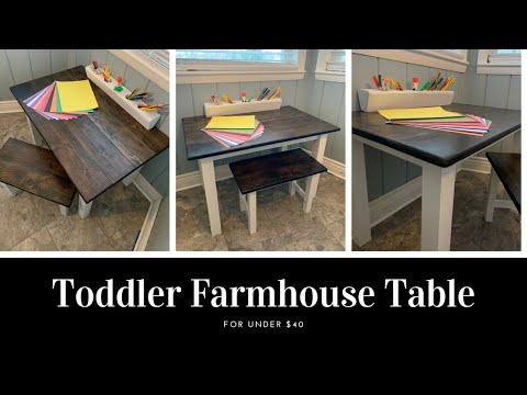 Toddler Farmhouse Table for under $40