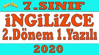 7.Sınıf İngilizce 2.Dönem 1.Yazılı 2020