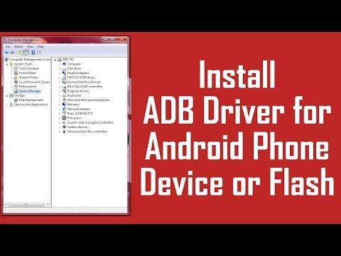 ADB Driver Install For Android Phone Flash   ADB USB Driver Method 2017