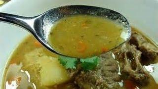 Receta: Sopa O Caldo De Res Bajo En Grasa| Beef Soup
