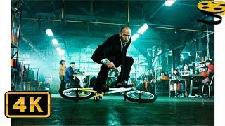Фрэнк Мартин гонится на Велосипеде за новым Перевозчиком | Перевозчик 3 | 4K ULTRA HD