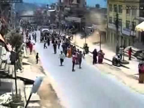 Shocking Footage Nepal Earthquake close to Epicenter