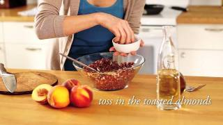Red Quinoa With Almonds And Peaches - Vegetarian Side Dish Recipes - Anolon