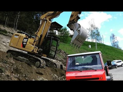 Escavatore Caterpillar 323F Su Scarpata /movimento Terra/ |excavator At Work|