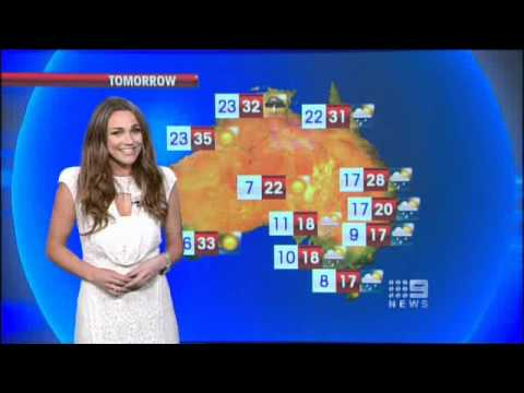 Sydney Weather Report on Nine News Australia for 2.11.10