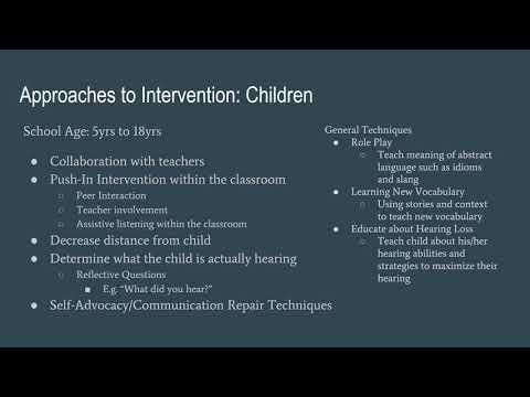 Sensory Impairments  -  Hearing Impairments