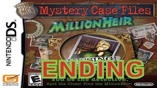 Mystery Case Files: MillionHeir (NDS) Walkthrough Part 5 Ending With Commentary