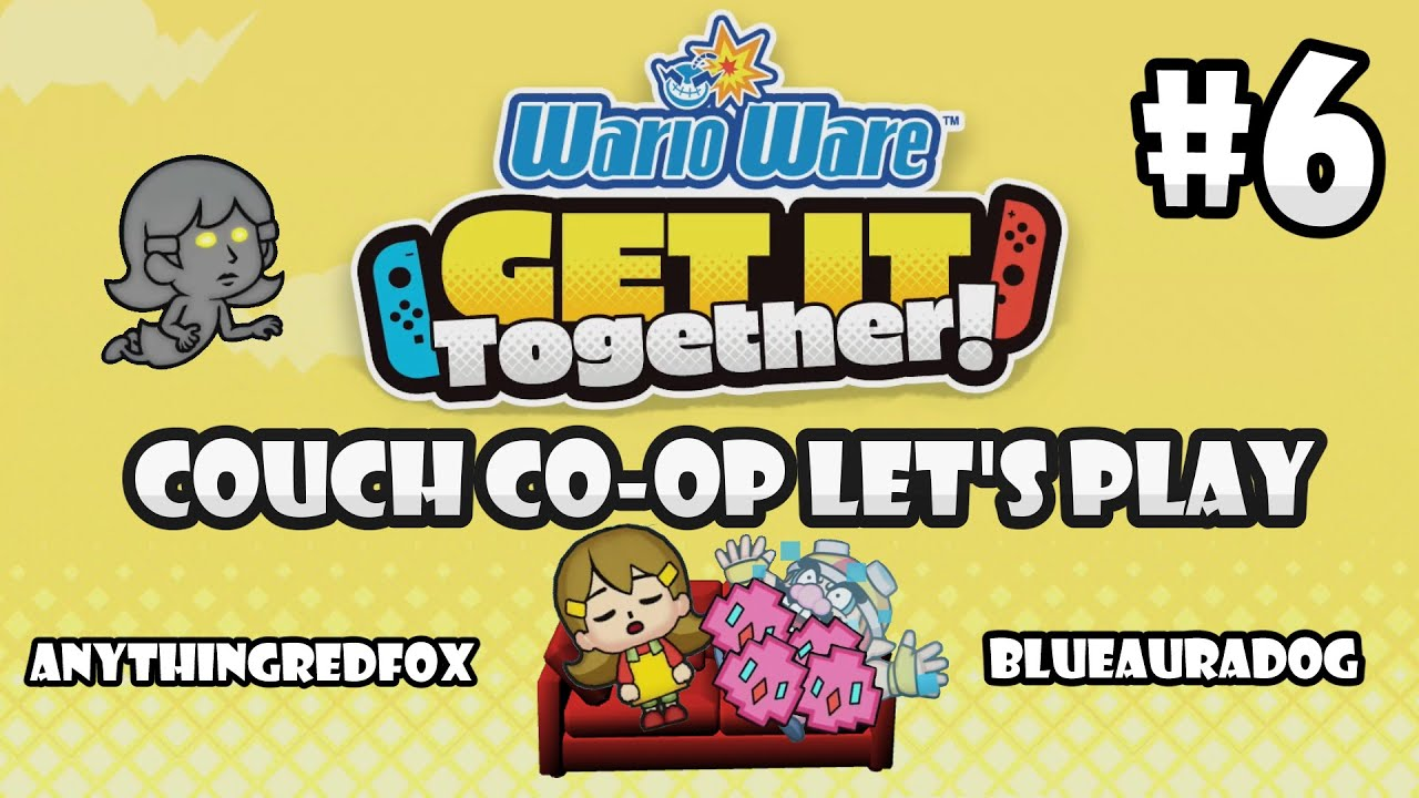 [Let's Play] [Couch Co-Op] WarioWare: Get It Together! PART 6: 5-Volt and Wario [Nintendo Switc