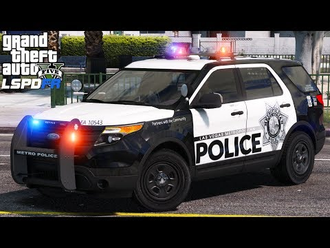 GTA 5 LSPDFR Police Mod 464 Las Vegas Metropolitan Police Department Crazy Night On The Vegas Strip