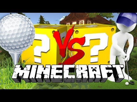 Minecraft: GOLF WITH YOUR FRIENDS LUCKY BLOCK CHALLENGE | THE 5-HOLE CHALLENGE