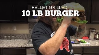 How to grill a 10lb Bacon Cheese Burger | Green Mountain Pellet Grills