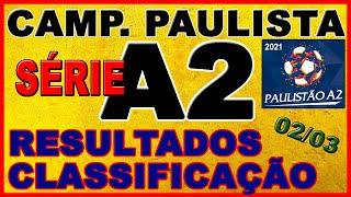 Classificação serie a2 paulista