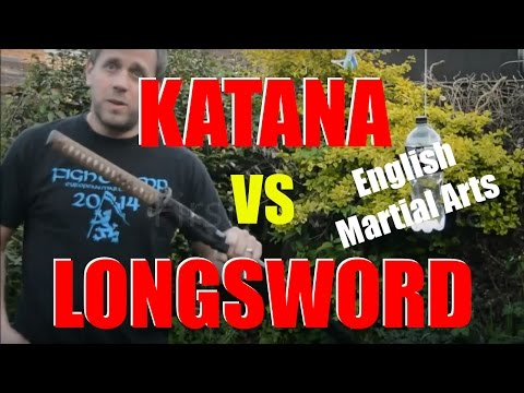 KATANA vs LONGSWORD - Comparing two AWESOME swords