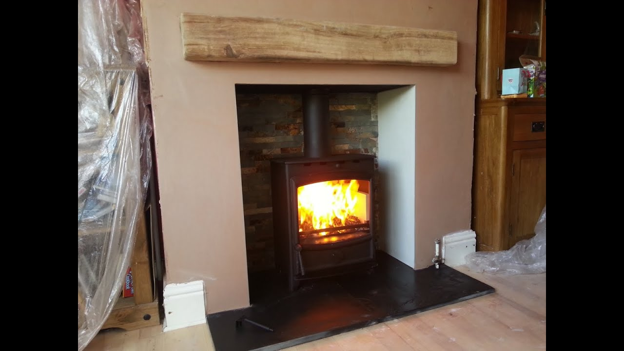 installation of Fireplace and Wood Burning stove - timelapse - YouTube