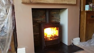 Fireline stove, installation of Fireplace and Wood Burning stove - timelapse