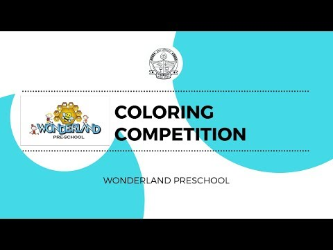 Coloring Competition at Wonderland Preschool