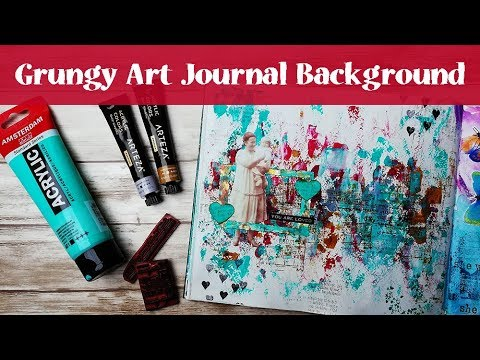 Art Journal with Me - Grungy Background