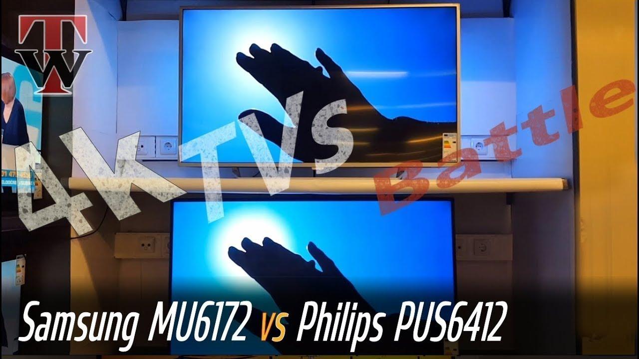 Samsung MU6172 vs Philips PUS6412 Smart TV