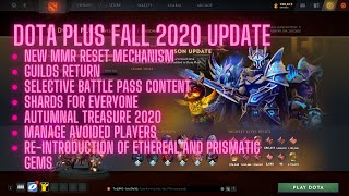 Dota 2 Plus Update Fall 2020 | Autumnal Treasure 2020 Chest Opening | Prismatic & Ethereal Gems