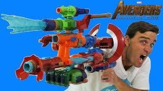 Avengers Infinity War NERF Assembler Gear Mega Blaster Combo ! || Toy Review || Konas2002