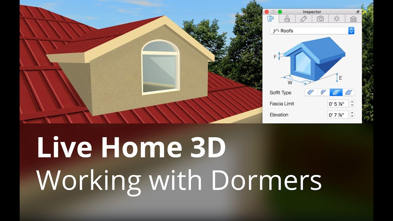 live home 3d tutorials working with dormers youtube. Black Bedroom Furniture Sets. Home Design Ideas