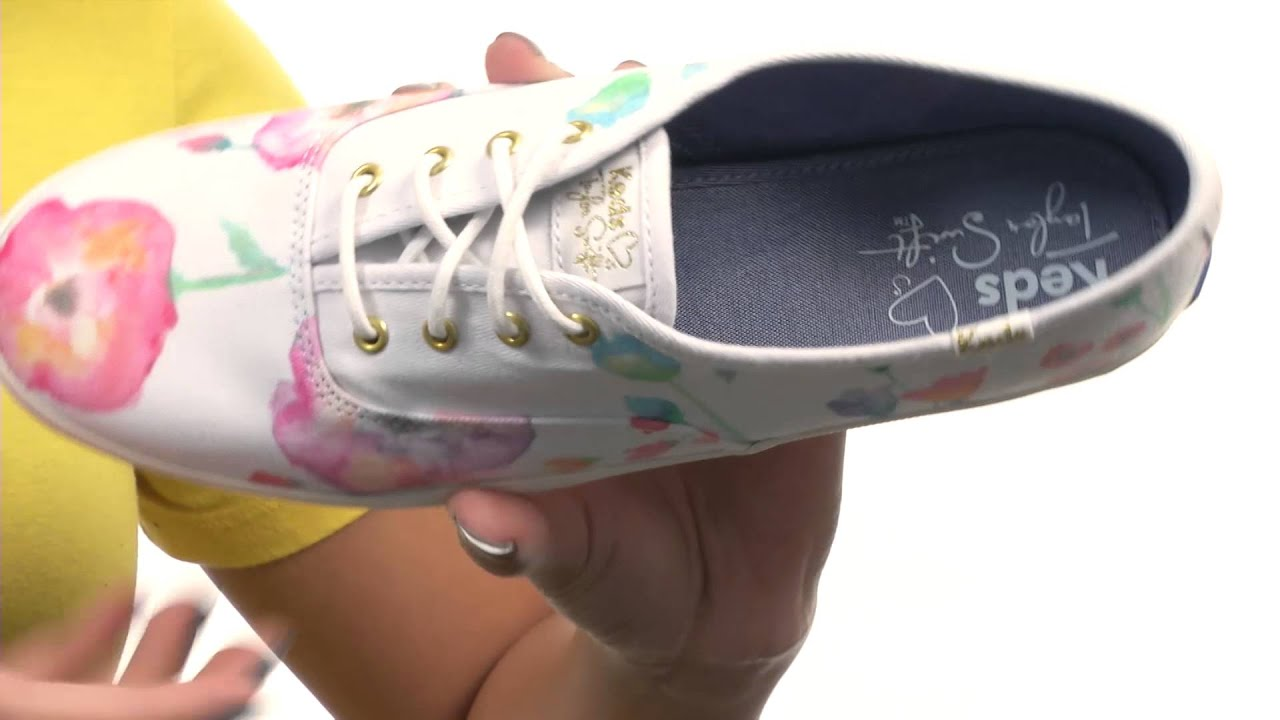 e861f4b80c301 Keds Taylor Swift s Champion Flower Painting SKU 8547587 - YouTube