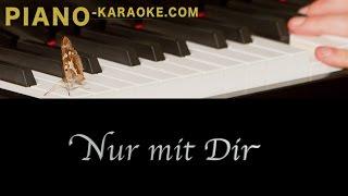 Nur mit Dir - Sarah Lombardi (piano karaoke demo)