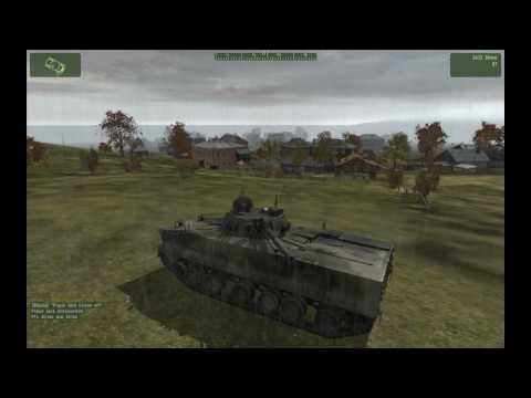 BMP-3 and Infantry Assault Town [HD]