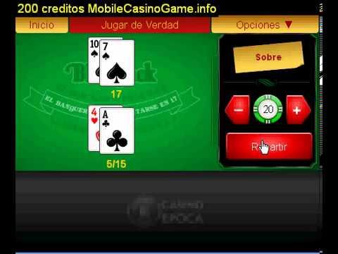 BlackJack Juego de Mesa 200 creditos Gratis a Casino epoca222